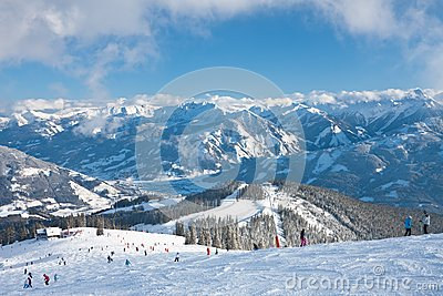 Ski Resort Zell Am See. Austria Stock Photography - Image: 26414542