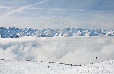 Ski resort Zell am See. Austria