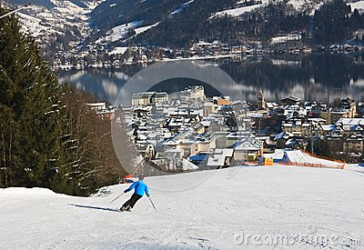 Ski resort Zell am See. Austria Editorial Stock Photo