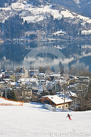 Ski resort Zell am See. Austria Editorial Photography