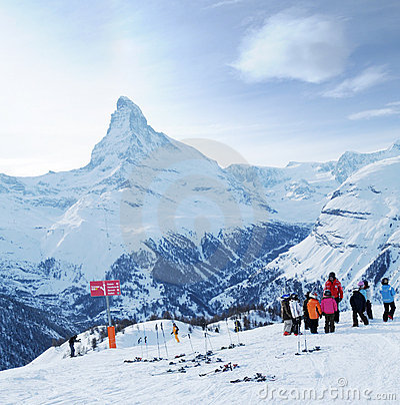 Ski school Editorial Stock Photo