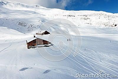 Ski slope.