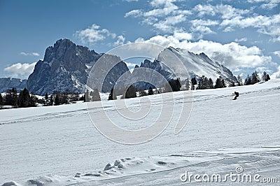 Ski slope, Dolomites - Italy