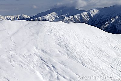 Ski slope for freeride