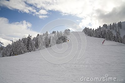 Ski slope in italian dolomites
