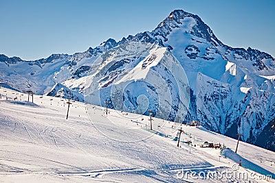 Ski slopes in French Alps