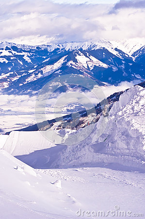 Ski slopes on Kaprun glacier
