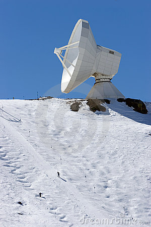 Ski slopes and observatory of resort in Spain
