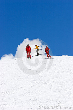 Free Ski Slopes Of Pradollano Ski Resort In Spain Stock Image - 681701