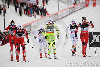 Ski sprint in Liberec Editorial Stock Photo