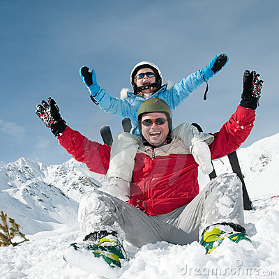 Free Ski, Sun And Fun Royalty Free Stock Images - 15840009