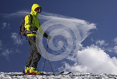 Ski tourist.