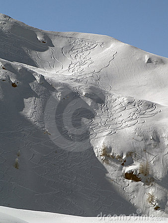 Ski Tracks Pattern