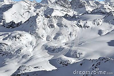 Ski tracks in the wilderness