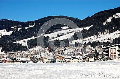 Ski Village in Austrian Alps