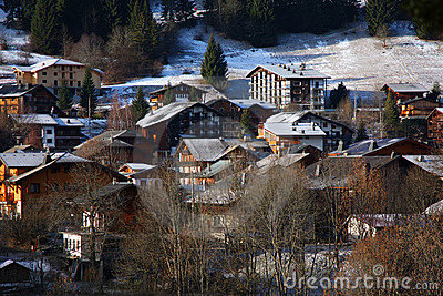 The ski village of Morzine in the French Alps
