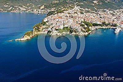 Skiathos aerial view