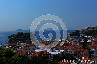 Skiathos port and city, Greece