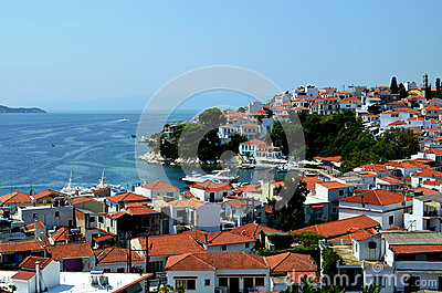 Skiathos view Editorial Stock Photo