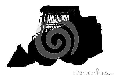 Skid loader silhouette