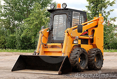 Skid steer loader outdoor