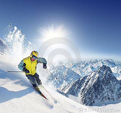 Free Skier Stock Photo - 5043090