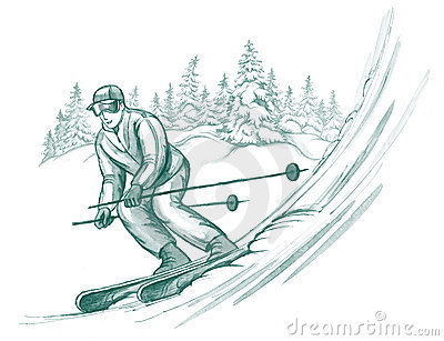 Skier in action