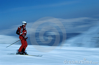 Skier in action 5