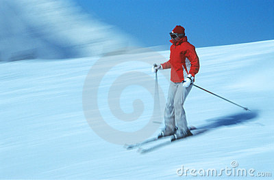 Skier in action 6