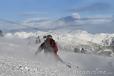 Skier carving