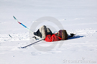 Skier fall