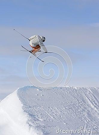 Skier jump 360
