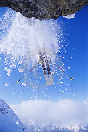 Free Skier Jumping Stock Images - 6077184