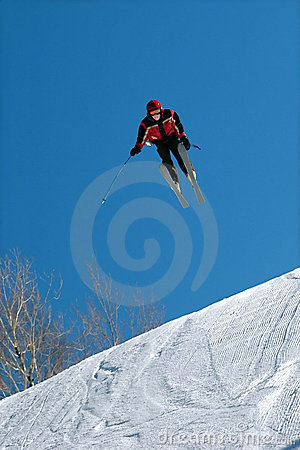 Skier Jumps High