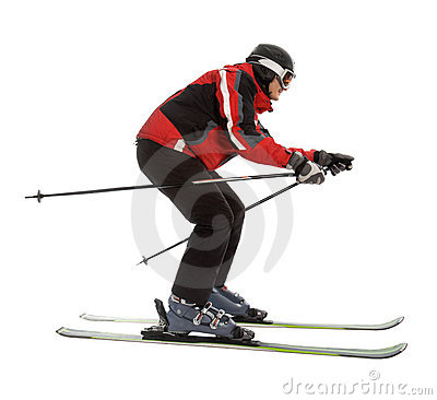 Free Skier Man In Ski Slalom Pose Royalty Free Stock Photos - 5552798