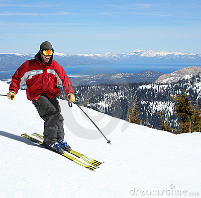 Free Skier On A Slope Royalty Free Stock Images - 197859