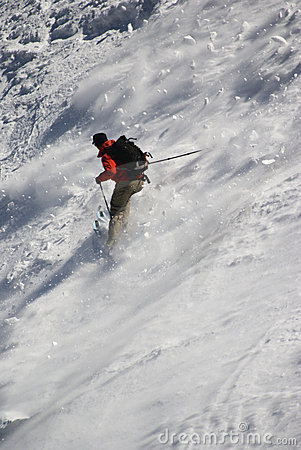 Free Skier On Mont Blanc Royalty Free Stock Photography - 2719267