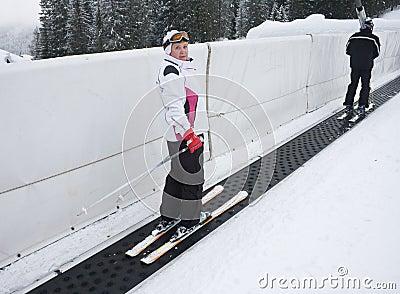Skier tape ski lift