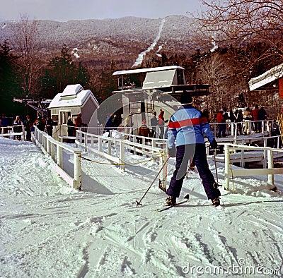 Free Skiers At Sugarbush Ski Resort In Vermont Royalty Free Stock Images - 140097089