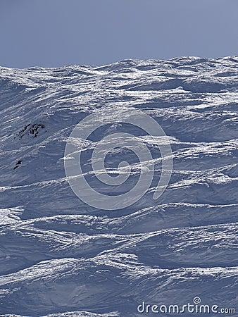 Free Skiers On Piste In High Alpine Ski Area Stock Photo - 31677120