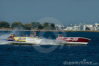 Skiff Class Speedboats. Editorial Photography