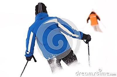 Skiing area in Soell (Austria) - skiers