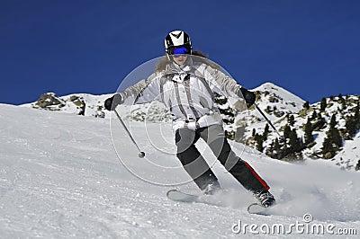 Skiing blazing fast