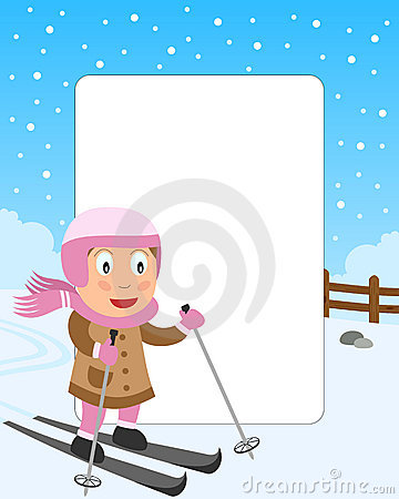 Skiing Girl Photo Frame