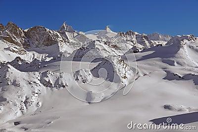 Skiing and the Matterhorn