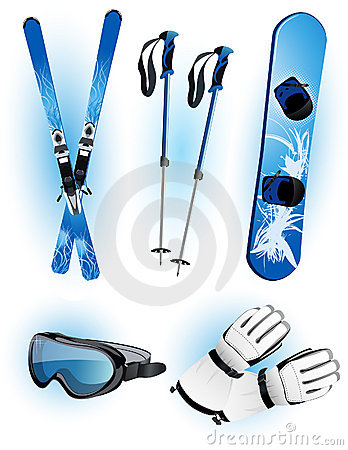 Skiing objects