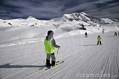 Skiing slope