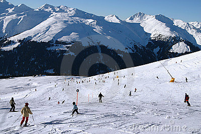 Skiing into the valley 2