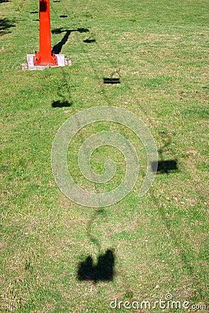 Skilift shadows