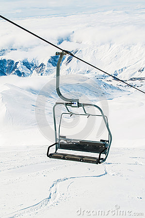 Skilift on winter day